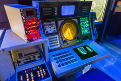 Aircraft carrier navigation equipment. Royalty Free Stock Photos