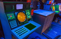 Aircraft carrier navigation equipment. USS midmay museum royalty free stock images