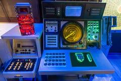 Aircraft carrier navigation equipment. USS Midmay museum royalty free stock photos