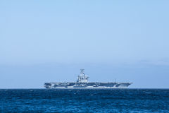 Aircraft carrier Nimitz at sea Royalty Free Stock Images