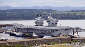 Aircraft carrier Queen Elizabeth Royalty Free Stock Photography