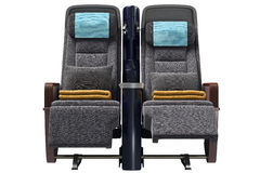 Aircraft chairs, front view Stock Photography