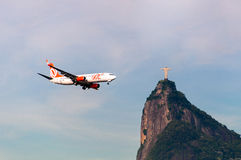 Aircraft and Christ the Redeemer Royalty Free Stock Image