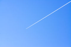Aircraft on a clear sky Royalty Free Stock Image