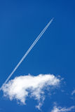 Aircraft and clouds Royalty Free Stock Photos