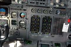 Aircraft cockpit. Of BAE 146 Royalty Free Stock Image