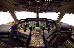 Aircraft Cockpit. Stock Photos