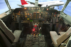Aircraft Cockpit Boeing  Stock Photo