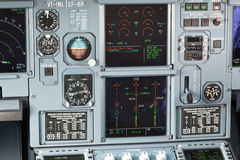 Aircraft cockpit dashboard Stock Photo