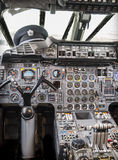 Aircraft Cockpit. Detail of the cockpit of Concorde, now out of service Stock Image