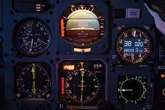 Aircraft cockpit Instruments Stock Photo