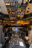 Aircraft cockpit interior Stock Photos