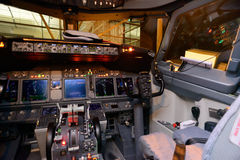 Aircraft cockpit interior Stock Image