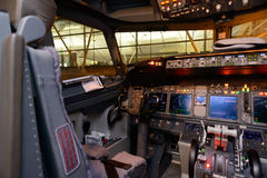 Aircraft cockpit interior Royalty Free Stock Image