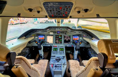 Aircraft Cockpit View Royalty Free Stock Photography