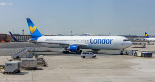 Aircraft of Condor Airlines Royalty Free Stock Photos