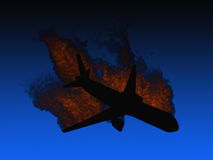 Aircraft crash Royalty Free Stock Photos