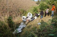 Aircraft crash in mountain Royalty Free Stock Photos