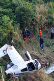 aircraft crash in mountain Royalty Free Stock Photo