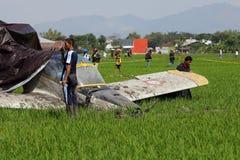 Aircraft crashed Royalty Free Stock Image