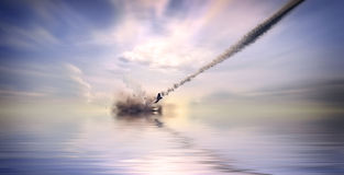 Aircraft crashing Royalty Free Stock Photo