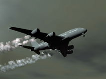 Aircraft - 3D render Royalty Free Stock Images