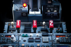 Aircraft Dashboard Panel Royalty Free Stock Images