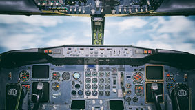 Aircraft dashboard. Stock Photography