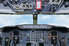 Aircraft dashboard. Stock Photos