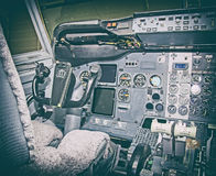 Aircraft dashboard. Stock Photo