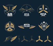 Aircraft design vector elements and logos Stock Photography