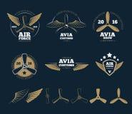Aircraft design vector elements and logos Stock Photography