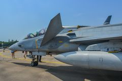 Aircraft on display in Changi, Singapore royalty free stock photography