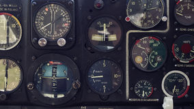 Aircraft displays. That show altitude, speed and so on Stock Photography