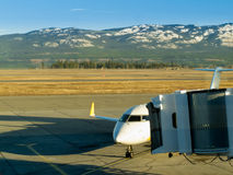 Aircraft docked at Whitehorse airport Yukon Canada Stock Image