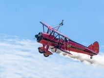 Aircraft, Double Decker, Wingwalker Royalty Free Stock Photography