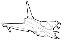 Aircraft drawing 2 Stock Image