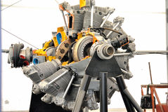 Aircraft Engine. An aircraft engine in shop for repair Stock Photo