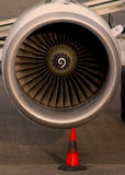Aircraft engine Stock Images