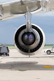 Aircraft engine. Rear view Stock Photography
