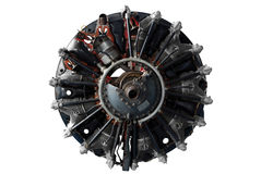 Aircraft engine. Isolated on white background Stock Photo
