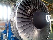 Aircraft Engine. B747 Aircraft Engine for Maintenance Royalty Free Stock Photography