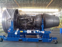 Aircraft Engine. B747 Aircraft Engine for Maintenance Royalty Free Stock Photos