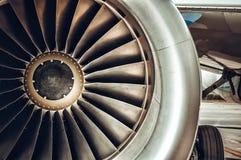 Aircraft engine close-up. Stock Photography