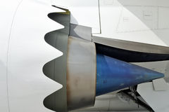 Aircraft engine close-up. Use for background Stock Images