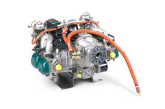 Aircraft engine. Company Rotax for aircraft stock images