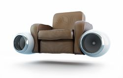 Aircraft engine leather armchair Stock Images