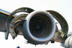 Aircraft engine Stock Photo