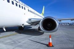 Aircraft engine on passenger plane Royalty Free Stock Photos