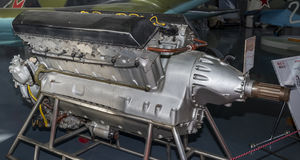 AM-35 - Aircraft engine (1935). Power,hp-1350. Used on aircraft: Royalty Free Stock Image